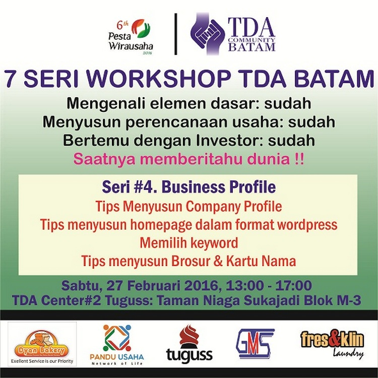 7 Seri Workshop Sesi 4 tda batam