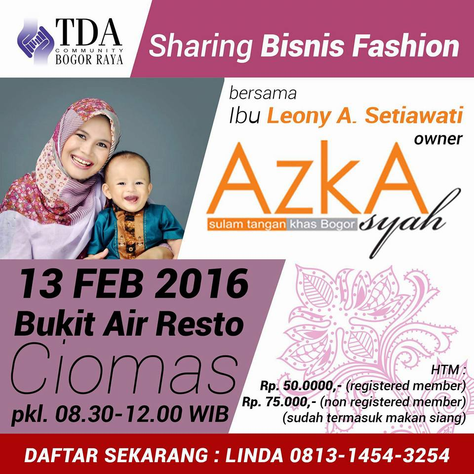 TDA Sharing Fashion Azkasyah