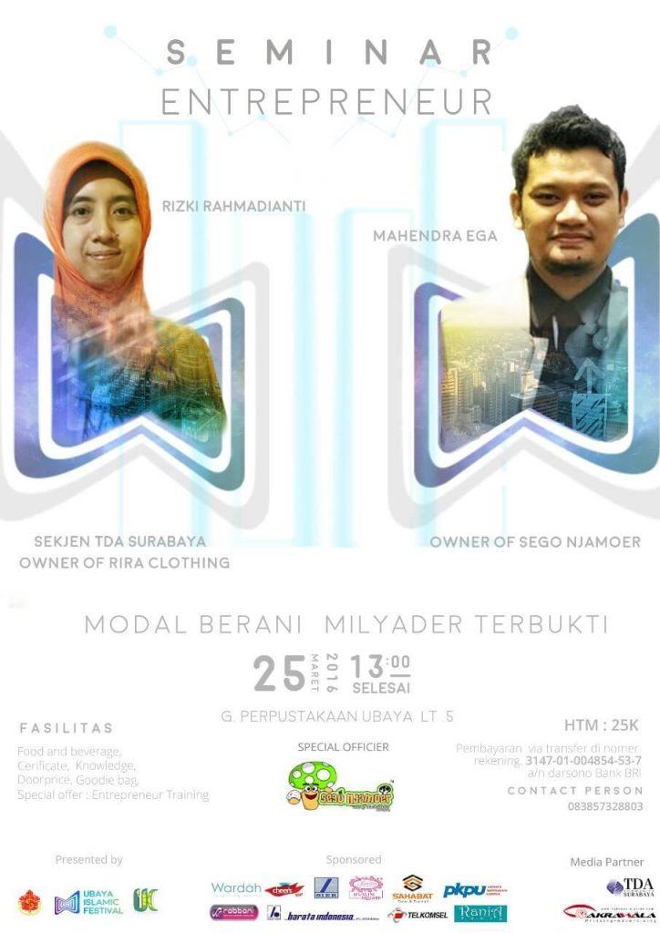 Seminar Entrepreneur TDA Sby