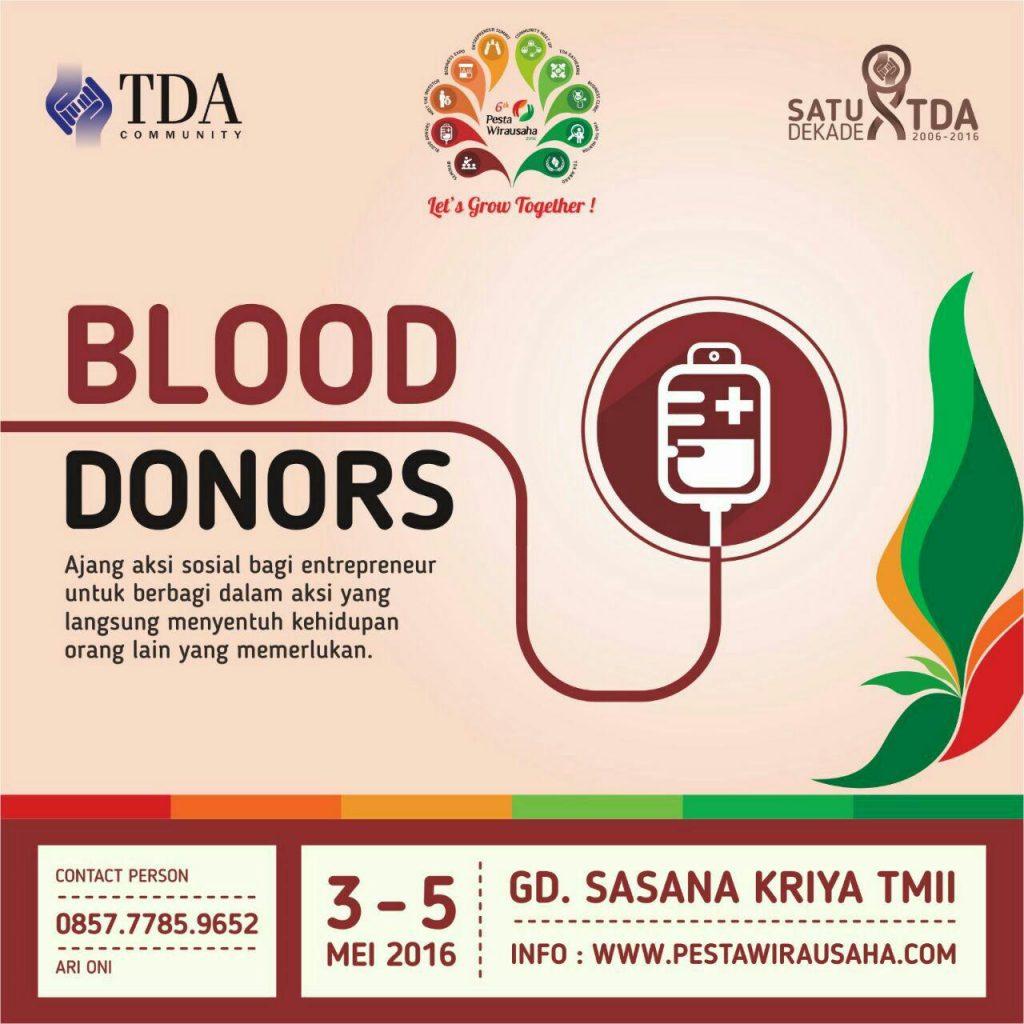 donor darah pesta wirausaha tda 2016