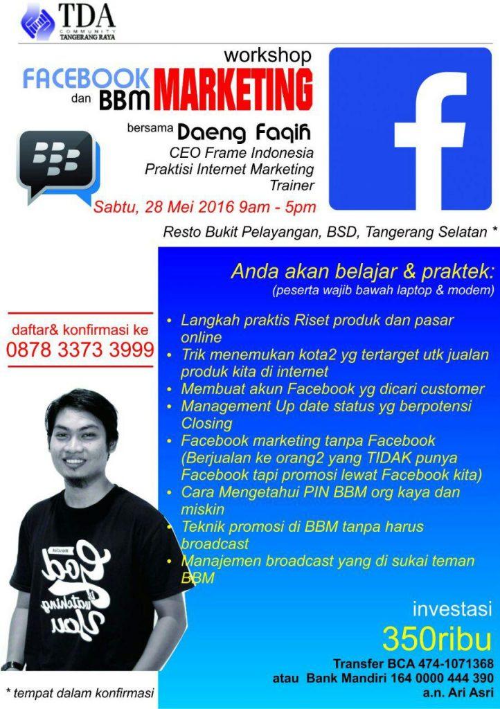 Wshop TDA Tangerang