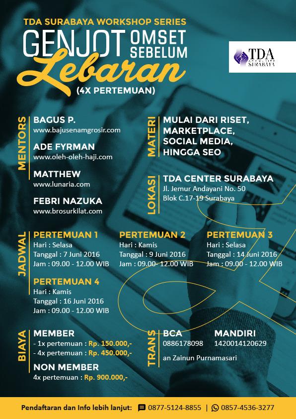 Workshop series TDA Surabaya