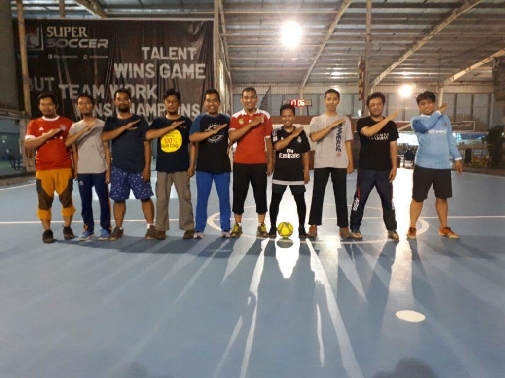 """Sejumlah Pebisnis TDA Depok Bentuk Tim """"Goal"""" di Lapangan Futsal"""