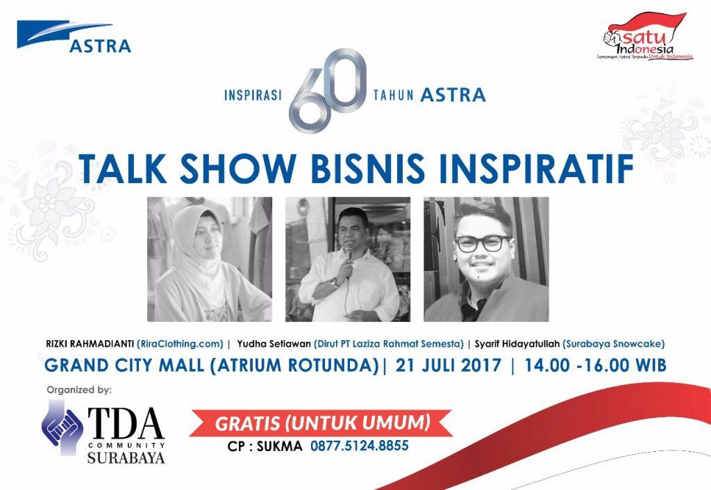 "HUT Astra Ke-60 ""Inspirasi 60 Tahun ASTRA"" - TDA Surabaya"